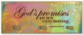 God's Promises are New Every Morning Triple Hook Plaque