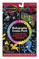 Scratch Art, Holographic Scratch Art Combo Pack