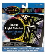 Cross Light Catcher, Scratch Art Kit