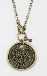Love With All My Heart, Wax Seal Necklace