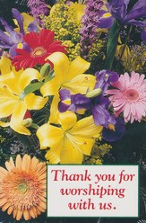 Thank You for Worshipping with Us Postcard (Package of 25)