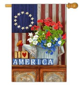 I Love America Flag, Large