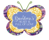 A Grandma's Heart Is Full Of Love, Butterfly Magnet