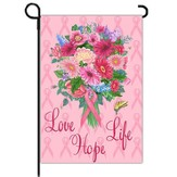 Love, Life, Hope, Pink Ribbon Flag, Small