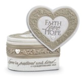 Faith, Hope, Love Keepsake Heart Box
