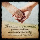 Love Begins In A Moment Boxed Plaque