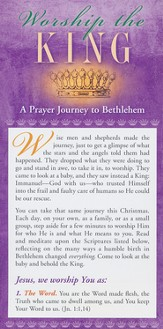 Worship the King Prayer Card, Pack of 50