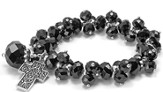 Ask, Seek, Knock Stretch Bracelet, Black