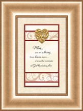 Heart Prints, Mom, Framed Print