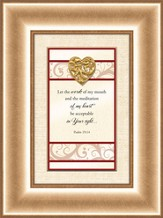 Heart Prints, Psalm 19:14, Framed Print