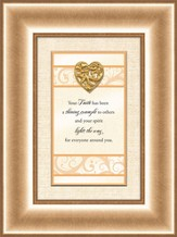 Heart Prints, Your Faith, Framed Print