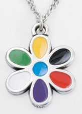Colors of Salvation--Flower Pendant