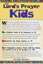 the Lord's Prayer for Kids Prayer Card, Pack of 20