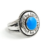 Live by Faith, Not By Sight Ring, Size 5