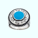 Live by Faith, Not By Sight Ring, Size 7