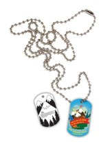 Mountain Adventures, Laminated Dog Tag