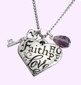 Faith, Hope, Love, 1 Corinthians 13:13 Pendant - Slightly Imperfect
