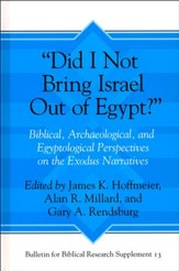 Did I Not Bring Israel Out of Egypt?: Biblical, Archaeological,  and Egyptological Perspectives on the Exodus Narratives