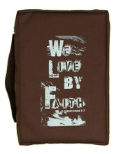 We Live By Faith Bible Cover