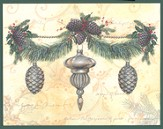 Ornaments and Wreath Deluxe Box Christmas Cards, Box of 20