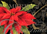 Christmas Poinsettia Deluxe Box Christmas Cards, Box of 20