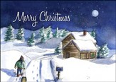 Christmas Cabin Christmas Cards, Pack of 5