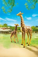 Playmobil Giraffe With Calf Accessory