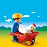 PLAYMOBIL ® Farmer with Wheelbarrow