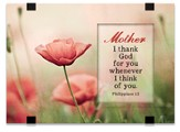 Mother, I Thank God For You, Tabletop Plaque