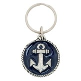 Anchor, Hope Is An Anchor For the Soul Keyring, Blue