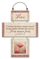 Love, Cross Wall Plaque