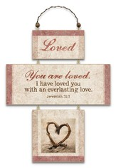 Loved, Cross Wall Plaque
