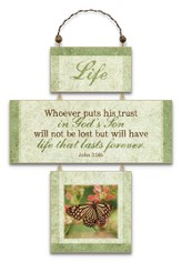 Life, Cross Wall Plaque