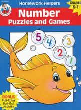 Number Puzzles and Games (K-1) Homework Helper