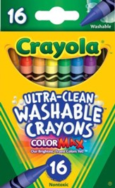 Crayola, Washable Crayons, 16 Pieces