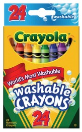 Crayola, Washable Crayons, 24 Pieces