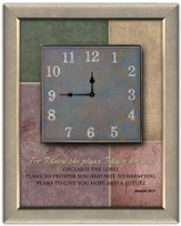 For I Know the Plans I Have For You Wall Clock