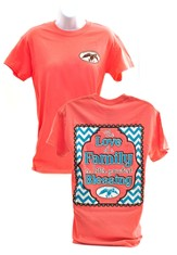 Love Of A Family Shirt, Coral, Large