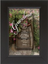 Grandma, A Heart Full of Love Framed Print