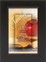 Teachers Are god's Way of Opening a Mind Framed Print