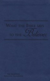 What the Bible Says to the Believer - Imitation Leather, Royal Blue