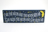 God Bless the Moon and God Bless Me Plaque