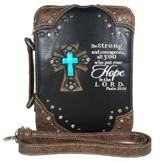 Hope In the Lord, Fashion Cross Bible Cover, Black