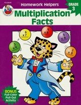 Multiplication Facts Homework Helper, Grade 3
