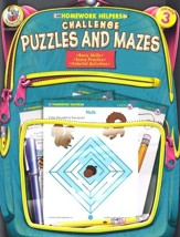 Challenge Puzzles and Mazes Homework Helper, Grade 3