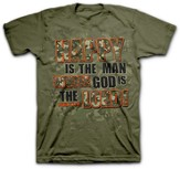 Happy Is the Man Whose God Is the Lord Shirt, Green, Medium