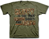 Happy Is the Man Whose God Is the Lord Shirt, Green, Youth Medium