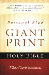 GOD'S WORD Personal-Size Giant-Print Bible, softcover