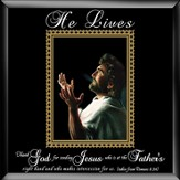 He Lives, Jesus Hands, Framed Art, Large