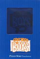 GOD'S WORD for Boys Bible, Duravella, blue - Slightly Imperfect